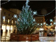 Piazza Tre Martiri a Natale