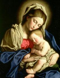 Madonna con Bambino del pittore Sassoferrato